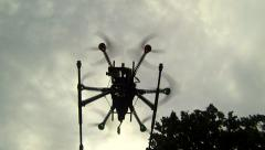 Camera drone, take off Stock Footage