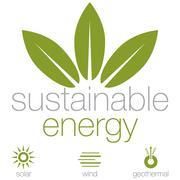 Sustainable energy Stock Illustration