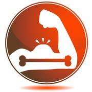 bone strength icon - stock illustration