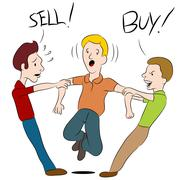 buy sell argument - stock illustration