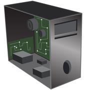 computer desktop repair - stock illustration