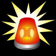 flashing warning light - stock illustration