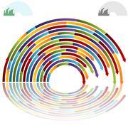 Rainbow arch arrows Stock Illustration