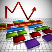 Org chart blueprint Stock Illustration