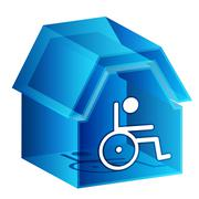 3d nursing home icon Stock Illustration