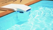 Stock Video Footage of Swimming Pool Clean Water Machine.