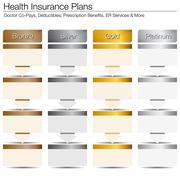 health insurance plans - stock illustration