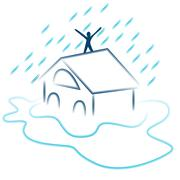 Flash flood emergency Stock Illustration