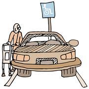 Handicapped parking Stock Illustration