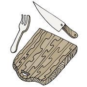 cutting board - stock illustration