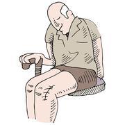 knee surgery - stock illustration