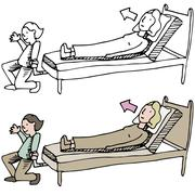 Adjustable bed Stock Illustration