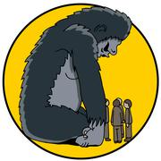 800 pound gorilla Stock Illustration