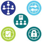 Policy icons Stock Illustration