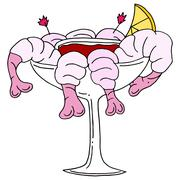 Shrimp cocktail Stock Illustration