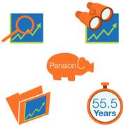 stock investment icons - stock illustration