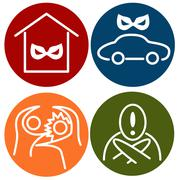 Stock Illustration of crime alert icons