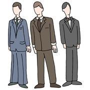 Men wearing formal attire Stock Illustration