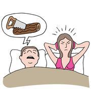 Snoring husband Piirros