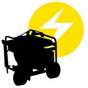 Gas powered generator Stock Illustration