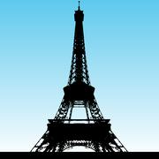 Grunge eiffel tower Stock Illustration