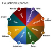Household expenses chart Stock Illustration