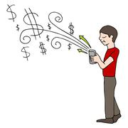 Stock Illustration of mobile purchase