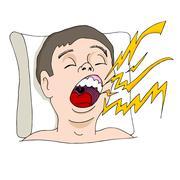 Loud snoring man Piirros