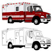 Stock Illustration of paramedic vehicle