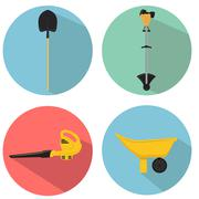 gardening tools - stock illustration