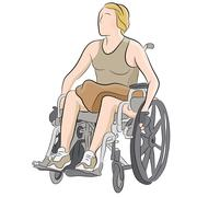 Disabled woman in wheelchair Stock Illustration