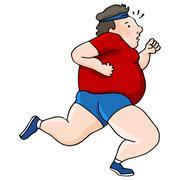 Overweight runner Piirros