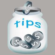 tip jar - stock illustration