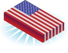 3d flag - stock illustration