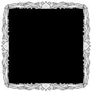 spade picture frame - stock illustration