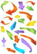 Directional arrow icons Stock Illustration