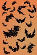 Halloween bats Stock Illustration