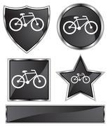 Black satin - bicycle Stock Illustration