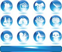 biology icon set - stock illustration