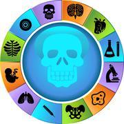 biology wheel - stock illustration