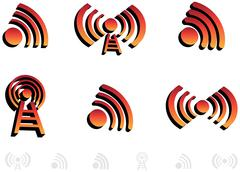 3d audio icons Stock Illustration