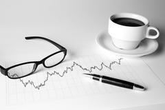 Financial management chart  Stock Photos