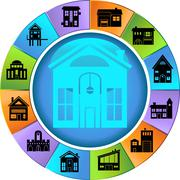 Housing wheel Stock Illustration