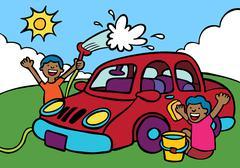 car wash - stock illustration