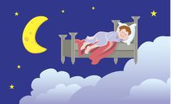 Dreaming Stock Illustration