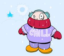 Stock Illustration of cold weather
