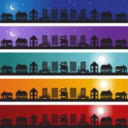Neighborhood banner Stock Illustration