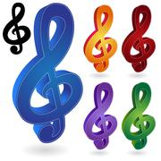 music notes - stock illustration
