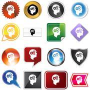 Cog wheel mind variety set Piirros