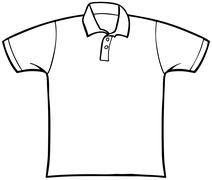 Collared t-shirt Stock Illustration